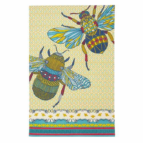 A brightly coloured bee design tea towel, made from 100% cotton. A great gift for any kitchen. View online: http://www.english-heritageshop.org.uk/homewares/bee-tea-towel