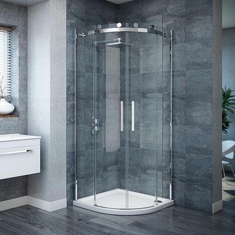 Nova Frameless Quadrant Shower Enclosure - 800 x 800 x 1900mm  - A001