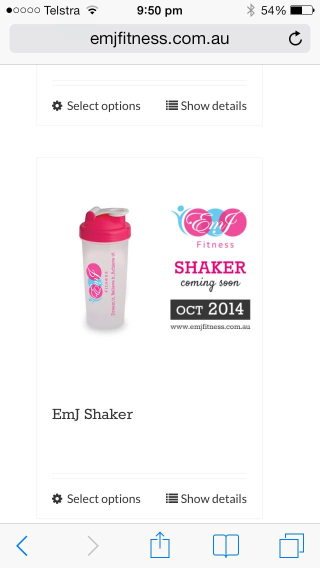Emj fitness shakers coming soon
