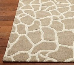 Giraffe print rug for jungle / safari / zoo / African animals themed nursery or toddler room