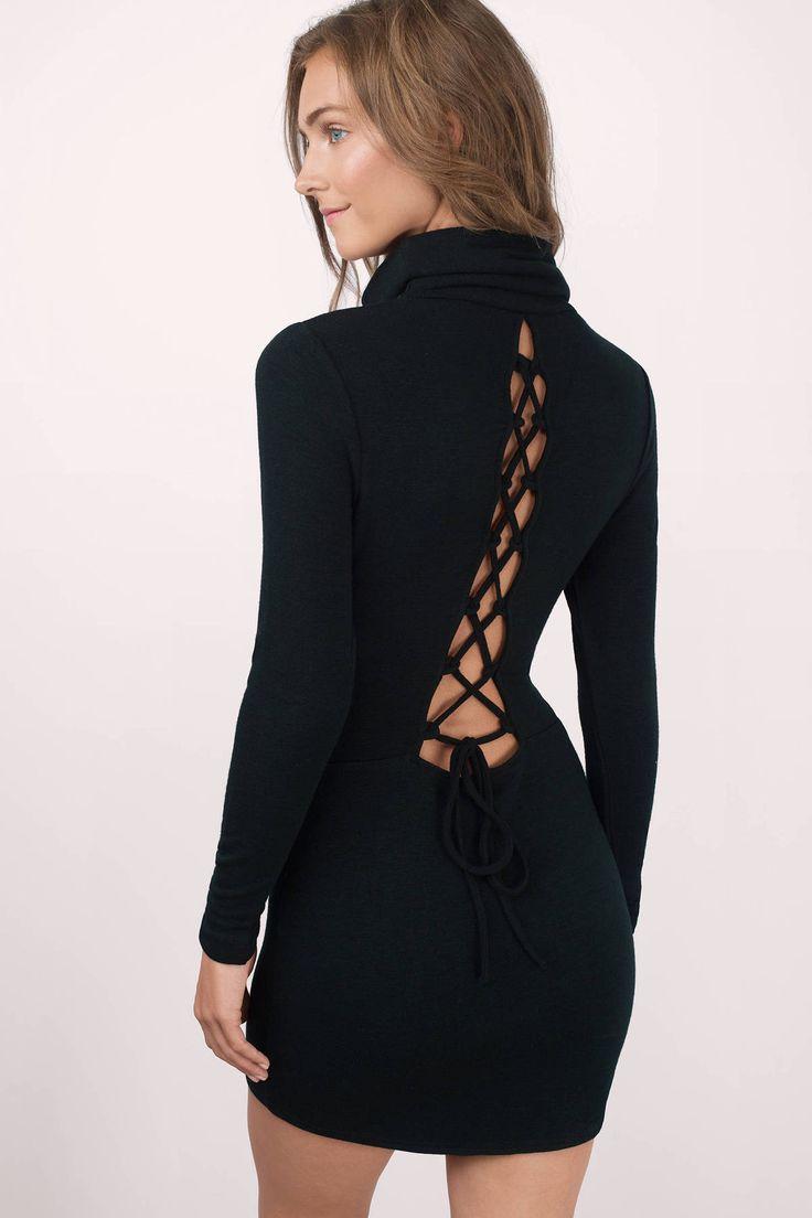 Khal Lace Up Bodycon Dress at Tobi.com #shoptobi