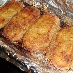 These were the best pork chops I have eaten in a long time. So moist and tender and the flavors were amazing! Use crushed pork rinds instead of breadcrumbs for low carb.