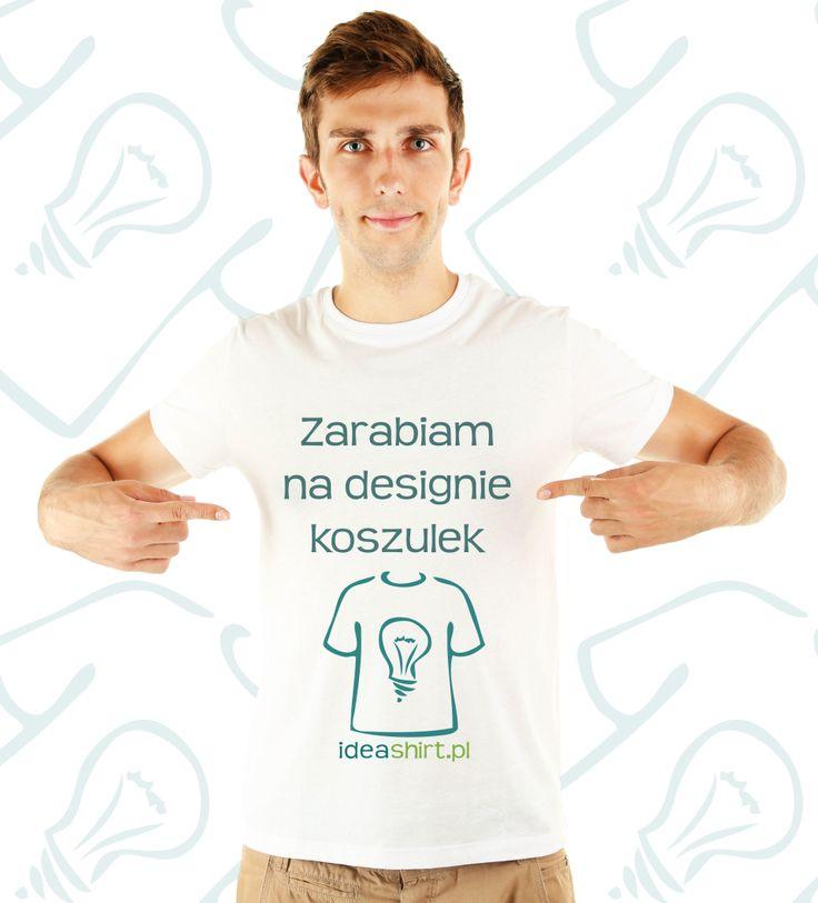 Post promujący tworzenie koszulek z własnym nadrukiem i zakładanie sklepów w systemie resellerskim. Dzięki temu można zarobić naprawdę fajne pieniądze.