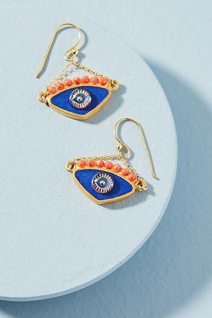 Katerina Psoma Evil Eye Earrings
