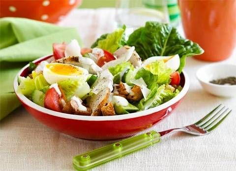 Chicken caesar salad: Nothing beats a chicken caesar salad and this one isn't full of 'naughty' dressing.