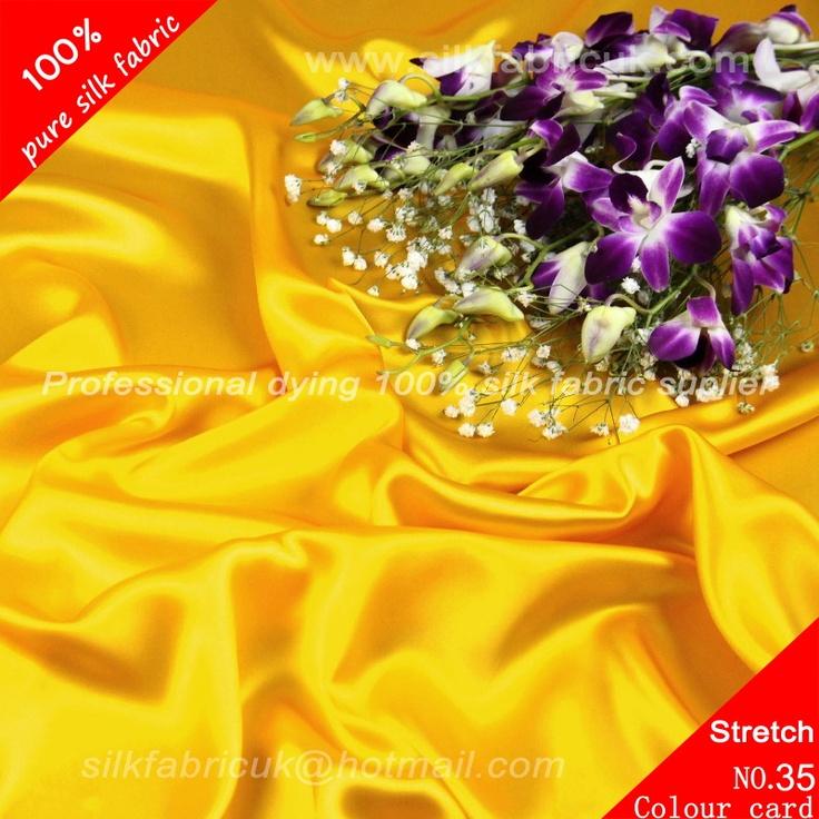 16mm silk stretch satin yellow