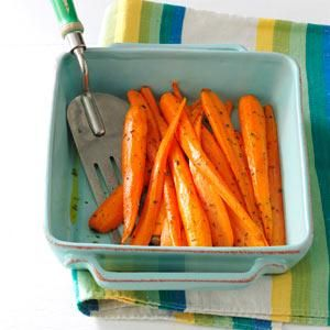 Roasted Carrots with Thyme Recipe from Taste of Home