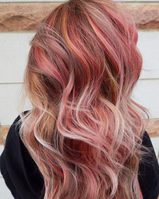 143 best hats hair things images on pinterest blonde hair blonde hair with reddish pink highlights check out those colors they look like a beautiful sunset thanks to the mix of golden blonde muted brown white pmusecretfo Images