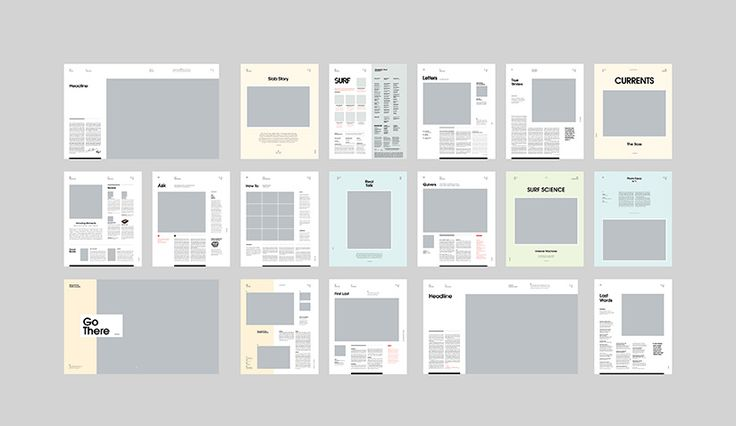 modern layout concepts