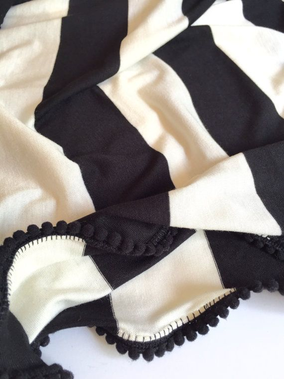 Baby Blanket / Swaddle Blanket / Black and by CharleyCharlesShop