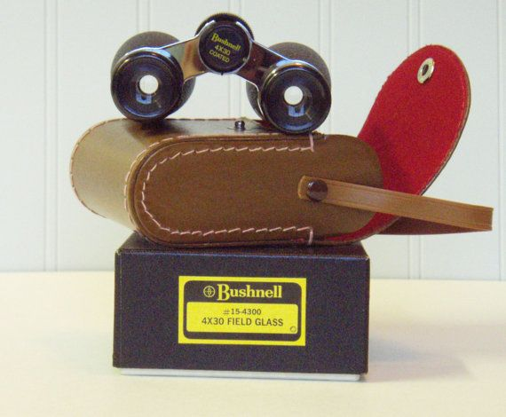 SOLD - Bushnell Binoculars 4x30 Case and Original Box by TreasureDiver,