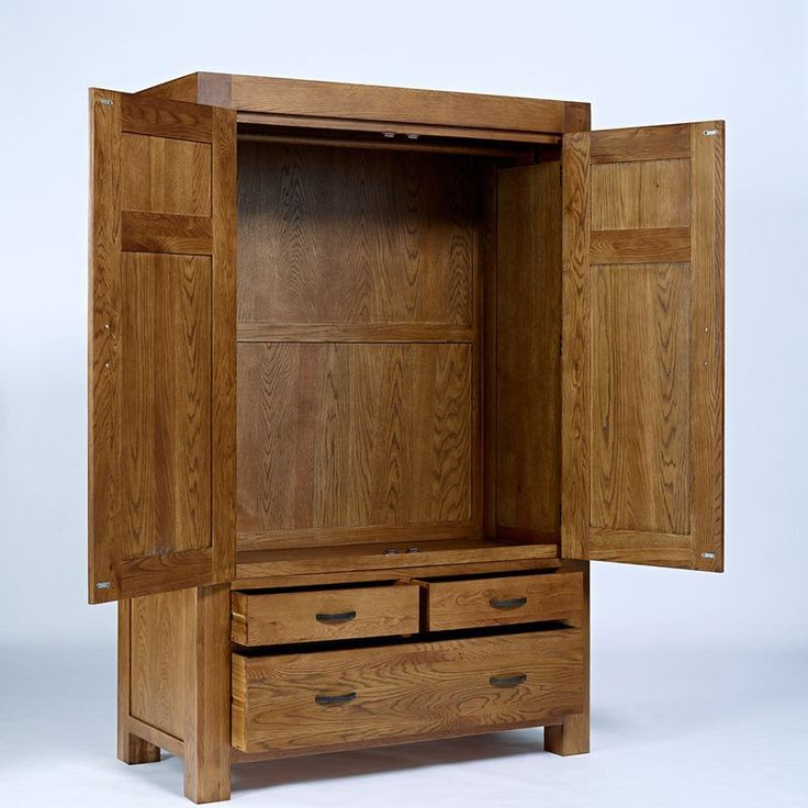 Santana Rustic Solid Oak Wardrobe (Sizes Single, Double, Triple) -  - Wardrobe - Ametis - Space & Shape - 2