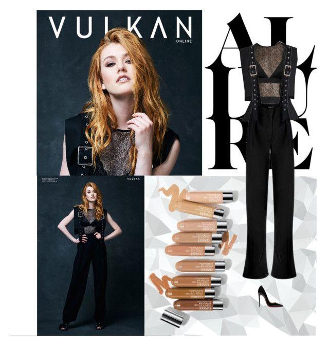 Outfit #928 Katherine McNamara by nmr135 on Polyvore featuring Vyayama, Christian Louboutin, Olsen, black, KatherineMcNamara, nmr and vulkan