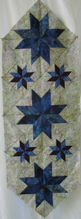 Mini Stars Table Runner ~ Quiltworx.com, made by Certified Instructor, Karen Conley