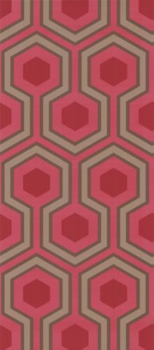 Hicks Grand wallpaper by Cole and Son, this new rich red colour a new addition to the restyled classic Hicks design.