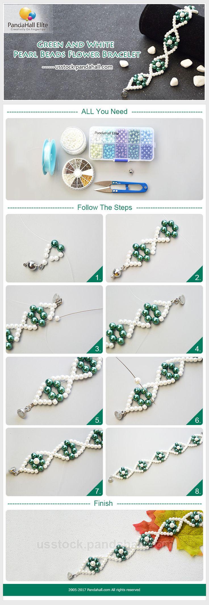 PandaHall Elite Craft Tutorial: How to DIY pearl bracelet with PandaHall Elite pearl beads #pandahallelite #pearl #pearlbracelet #pearlbeads #bracelet #jewelry #craft #crafttutorial