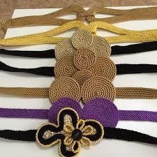 Resultado de imagen de cinturon con cordon de seda
