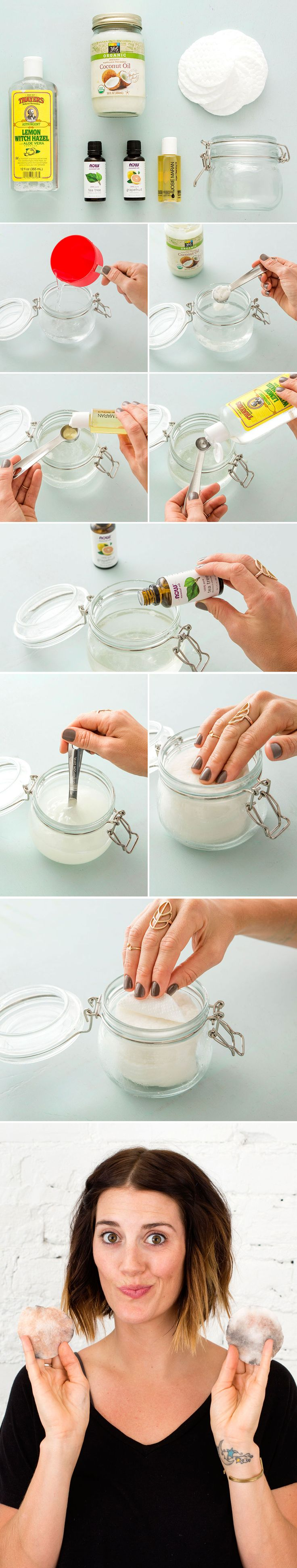 Follow this step-by-step to make your own makeup wipes.