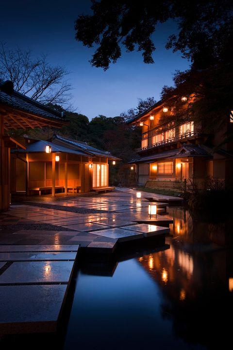 Japanese inn Hoshinoya, Kyoto, Japan #landscapelighting