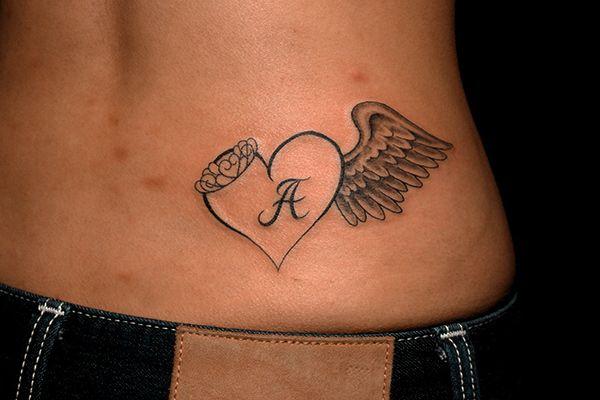 腰用にデザインしたハートと翼のガールズタトゥー作品画像です。 Heart and Wing Tattoo for Girl 腰の部位用にデザインされた様々なタトゥー 刺青作品画像集 東京 TOKYO 渋谷のタトゥースタジオTIFANA TATTOO[ティファナタトゥー] TIFANA TATTOO FACEBOOK