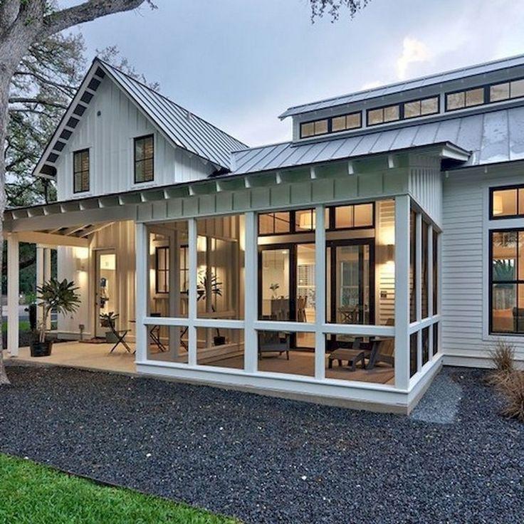 30+ Incredible Farmhouse Home Exterior Ideas Screened