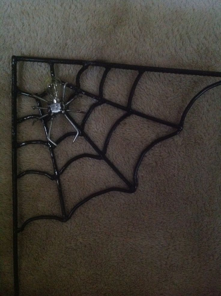 Recycled metal spider and web - made by Fiona Verhagen