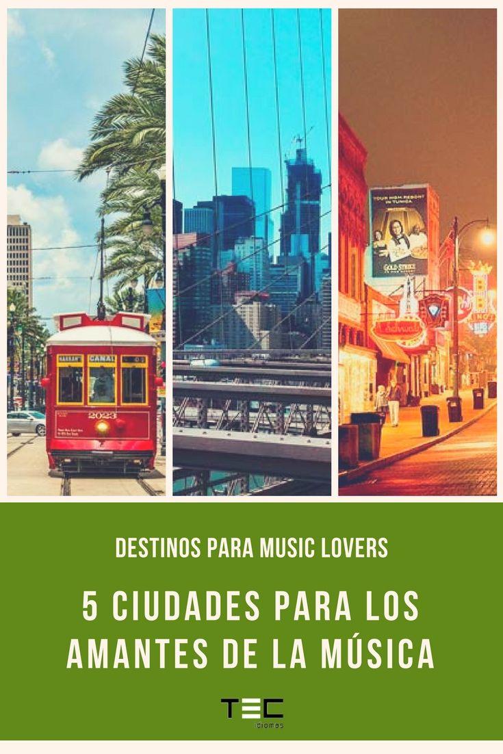 🎶 Destinos para Music Lovers 🎶  5 ciudades que todo buen amante de la música debe visitar 🔛 #MusicLovers #StudyAbroad #EnlishTrip