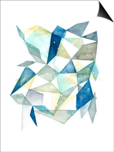 Geometric Jewel Abstract I Pôsters por Grace Popp na AllPosters.com.br