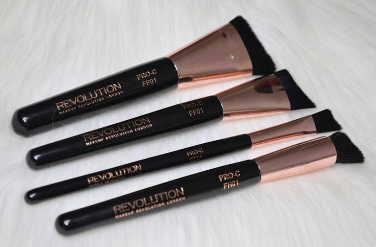 Review of the four Makeup Revolution Pro Curve Contour Brushes, a collection of brushes designed for contouring and shaping the face.