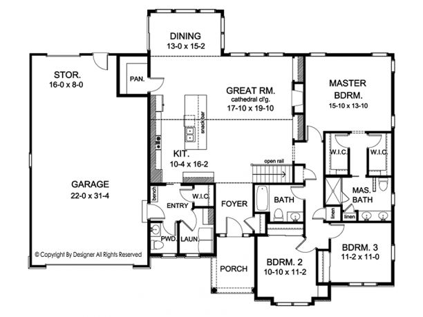196 best house plans over 1800 sq ft images on pinterest for 1800 sq ft open floor plans