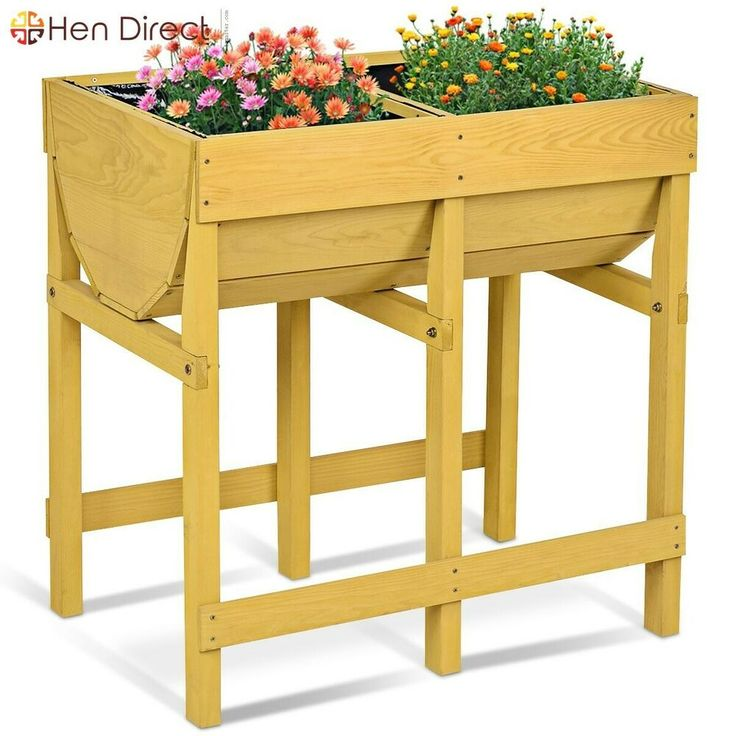Raise Garden Wood Planter Sturdy Vegetable Flower …