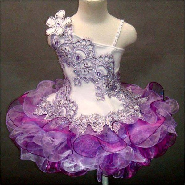 For Sale: Purple & White Semi Glitz Cupcake Style Pageant Dress -  Size: 4T/6 ~ $125 shipped. Comment or send me a message if you are interested. This one needs to go! Thanks :)
