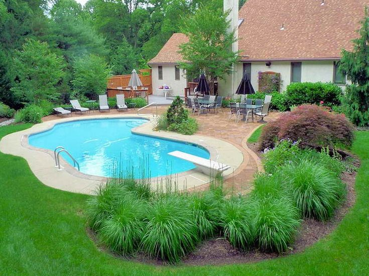 The most successful landscaping ideas can make your inground pool with the  area around it a real paradise. Plants