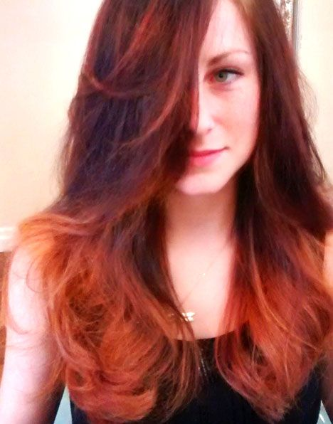 A dynamic red with voluminous curls will have you turning heads❤️ #kimberlystyleshair #kimberlystylesoggisalon #oggisalon #yorkvillehair #toronto #torontohair #redhair