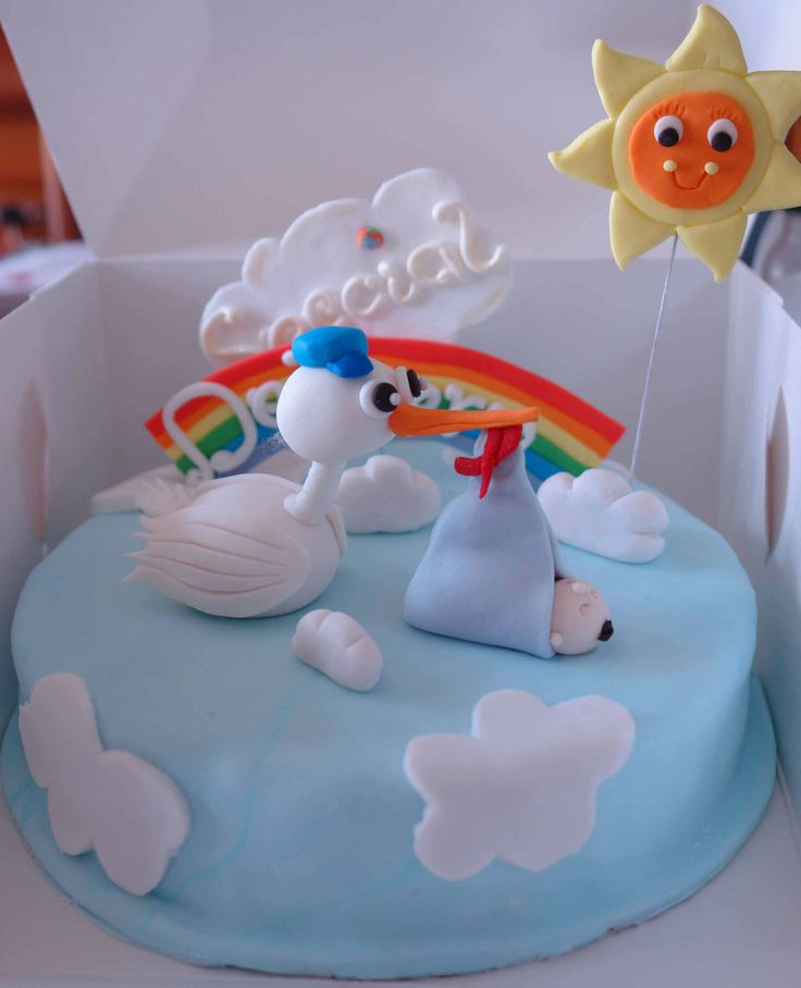 Baby announcement cake - Its A Cake Thing