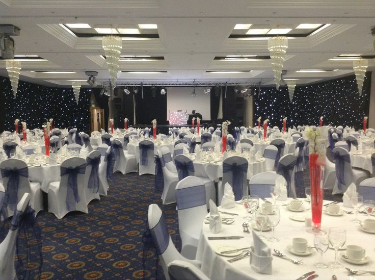 Hall Set Up for Dinner- Star Cloth