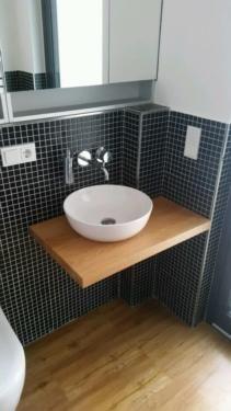 Waschtisch Waschtischplatte Fensterbank Eiche massiv Holz auf Maß in Niedersachsen - Osnabrück | Badezimmer Ausstattung und Möbel | eBay Kleinanzeigen