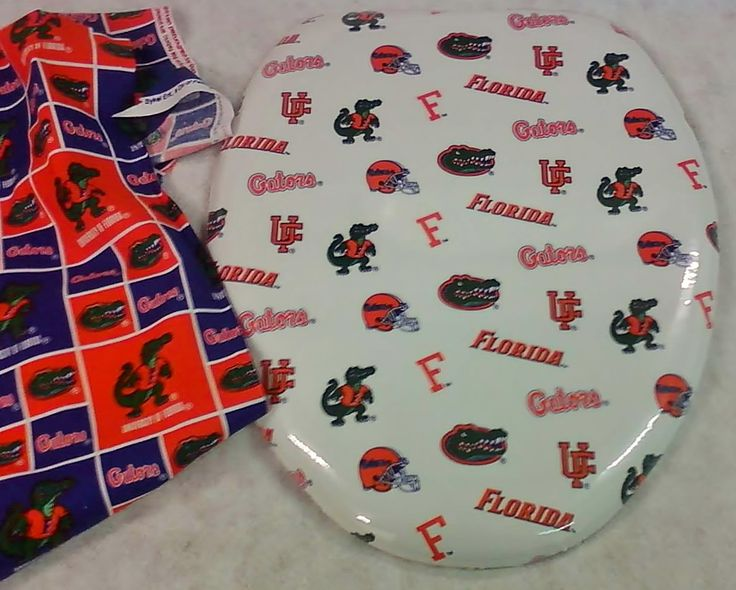 Merveilleux CloudSoft Custom Padded Toilet Seat Lid. Florida Gators. (send In Your Own  Fabric) | BathBeautiful.com | Pinterest | Toilet And House