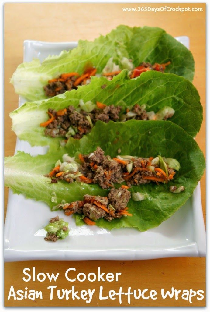 Recipe for Slow Cooker Asian Turkey Lettuce Wraps with Sriracha # ...