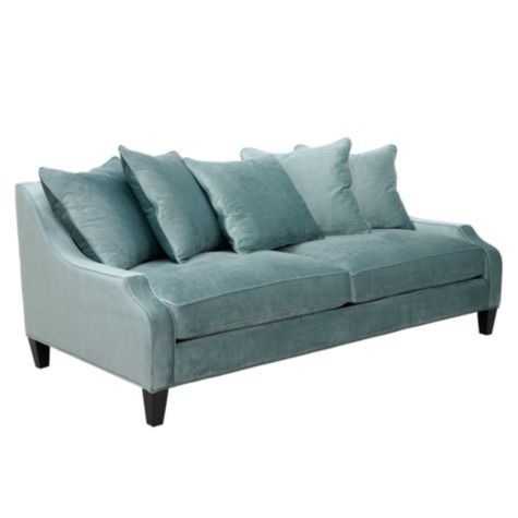Brighton Sofa Aquamarine From Z Gallerie Front Room