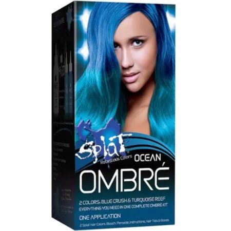 Splat Rebellious Colors Ombre Semi Perm Hair Color Kit, Fire, 6 pc