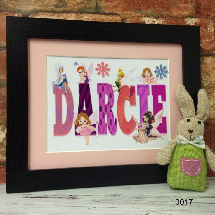 Fairies Childrens Name Frame
