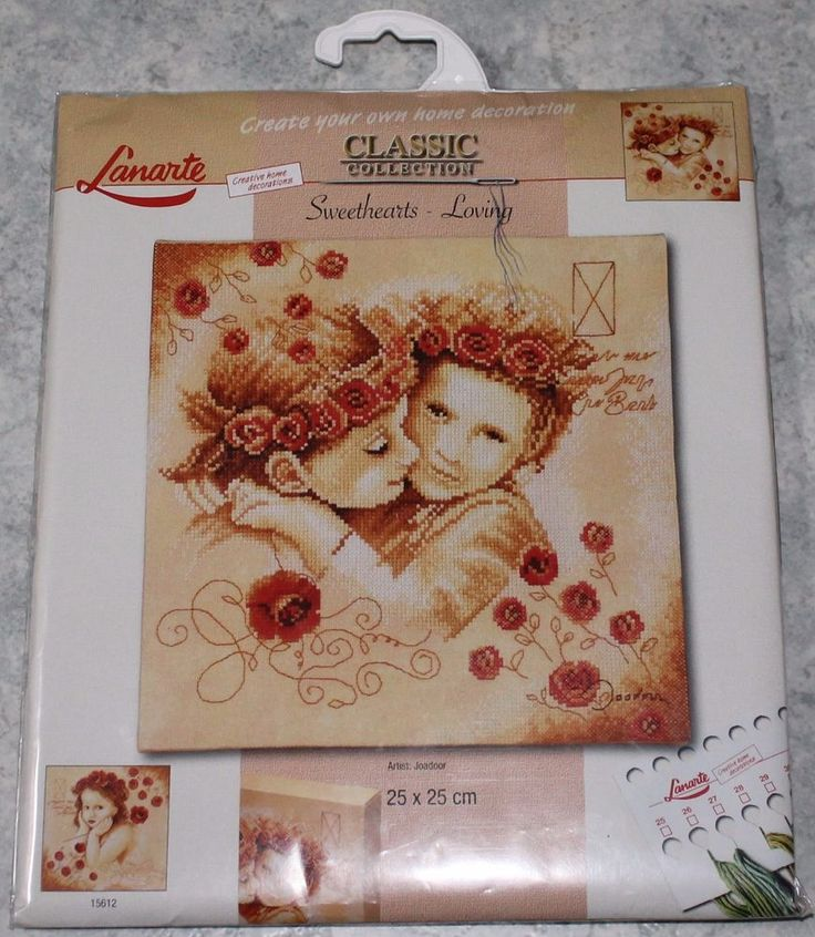 Counted Cross Stitch Kits #15611 NIP RARE. Sweethearts - Loving - Lanarte. This kit is RARE and difficult to find. Kit contains: cotton threads, needle, 27 count printed fabric . Kit is new and unopened. | eBay!