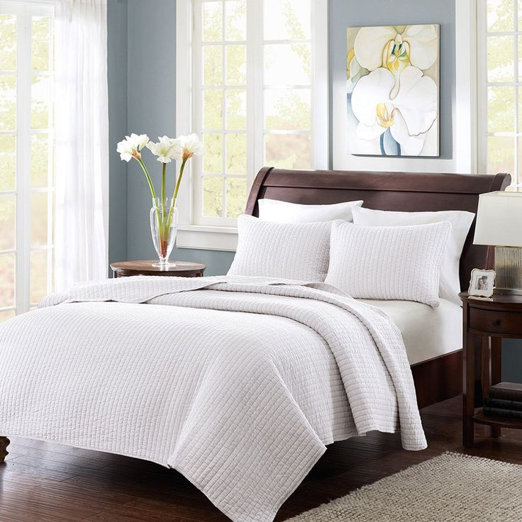 The Madison Park Jaxson Coverlet Collection allows for the perfect layering piece to current decor, yet is unique enough to stand alone on top of the bed. Made from polyester microfiber, this coverlet and sham are incredibly soft to the touch.