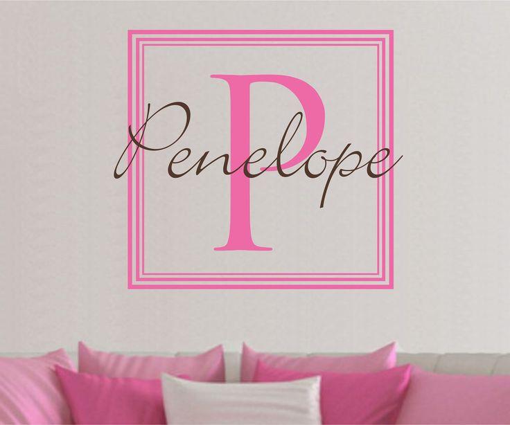 Best BrookieBoo Images On Pinterest Comforter Hanging - Monogram wall decals cheap