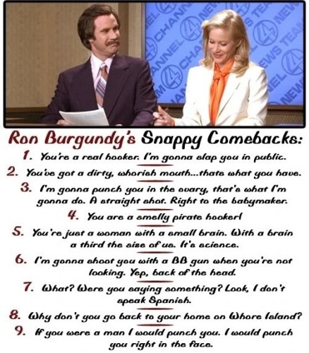 Ron Burgundy quotes - horrible & hilarious