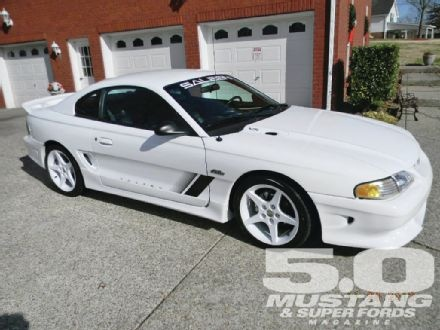 Tim Preston's 1997 Saleen Mustang-- looks close enough to my own '1997.  I loved my white Mustang...
