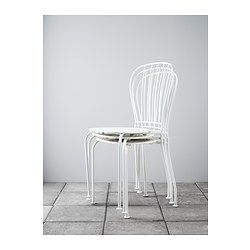 LÄCKÖ Stol, utomhus - vit, - IKEA