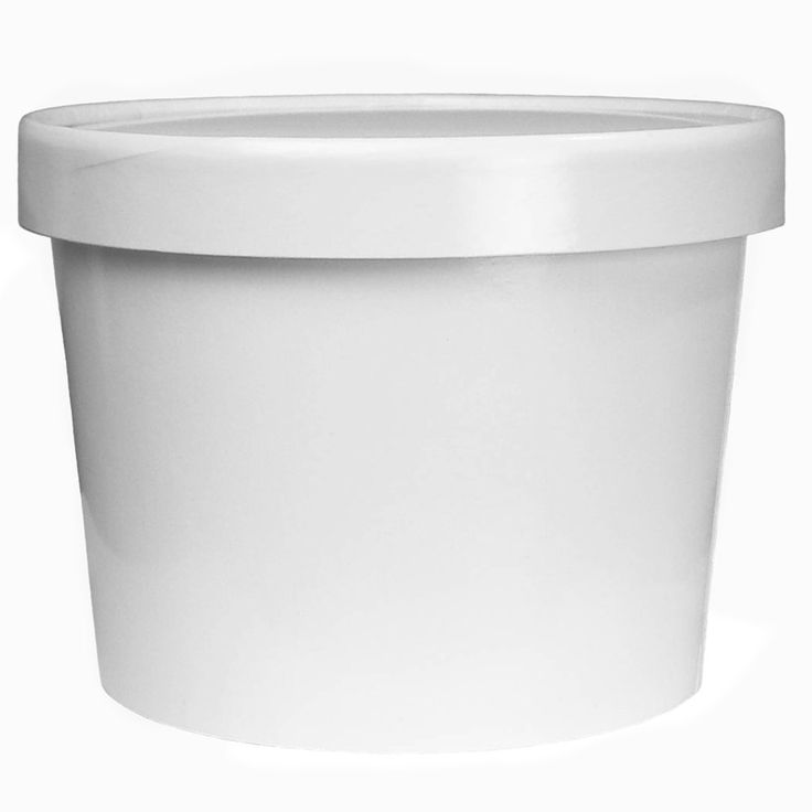 Frozen Dessert Supplies White Paper Ice Cream Containers Half Gallon 64 oz - Frozen Dessert Containers With Non Vented Lids Prevent Freezer Burn - Heavy Duty Freezer Containers for Long Term Storage!