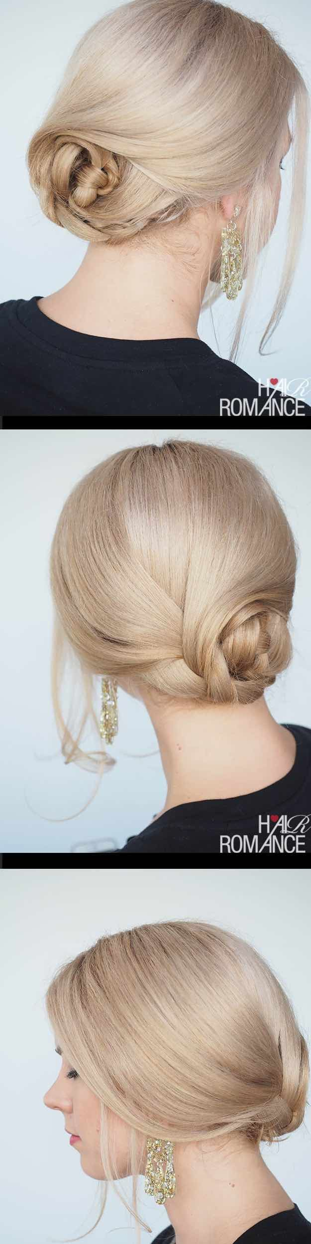 Best Hairstyles for Brides - Quick and Easy Braided Updo- Amazing Hair Styles and Looks for Half Up Medium Styles, Updo With Long Hair, Short Curls, Vintage Looks with Veil, Headpieces, or With Tiara - Wedding Looks for Girls With Round Faces - Awesome Simple Bridal Style With Headband or Elegant Braided Up Dos - thegoddess.com/hairstyles-for-brides